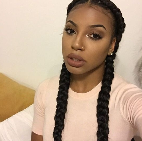 She Used Jbco On A Twa Twist Out, But The Style She Got Out Of It Inside Recent Braided Hairstyles With Two Braids (View 10 of 15)