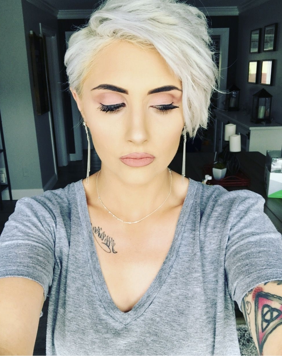 Shocking Platinum Blonde Pixie Haircut Cut Ideas Picture For Short For Most Up To Date Bleach Blonde Pixie Haircuts (View 12 of 15)