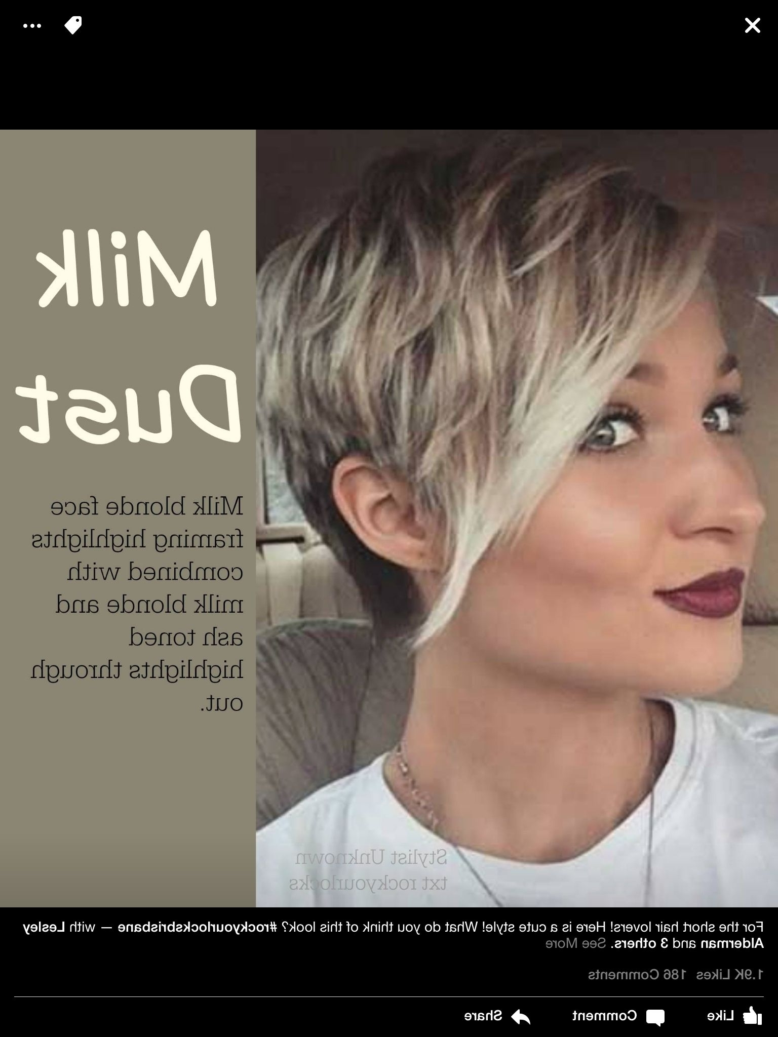 Short Hair  Highlights  Long Pixie | Short Hair Inspiration Throughout Most Popular Imperfect Pixie Haircuts (View 14 of 15)