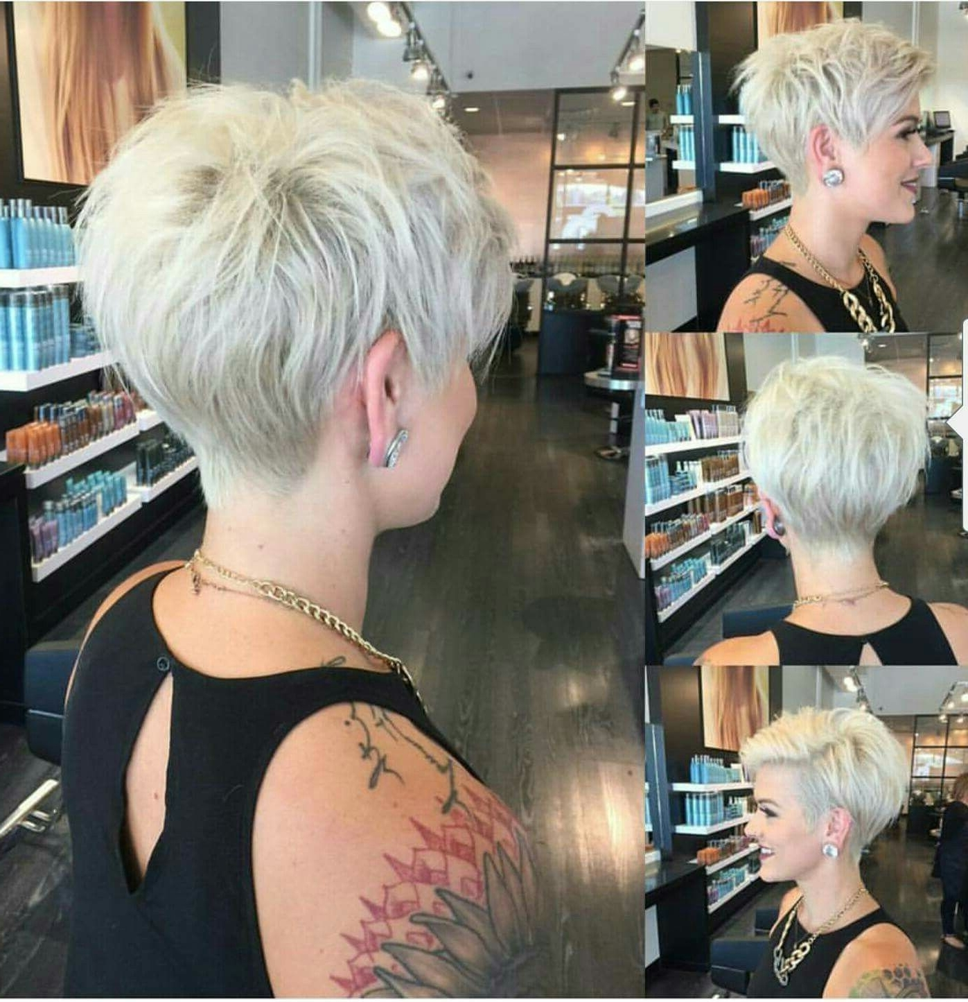 Featured Photo of Bleach Blonde Pixie Haircuts
