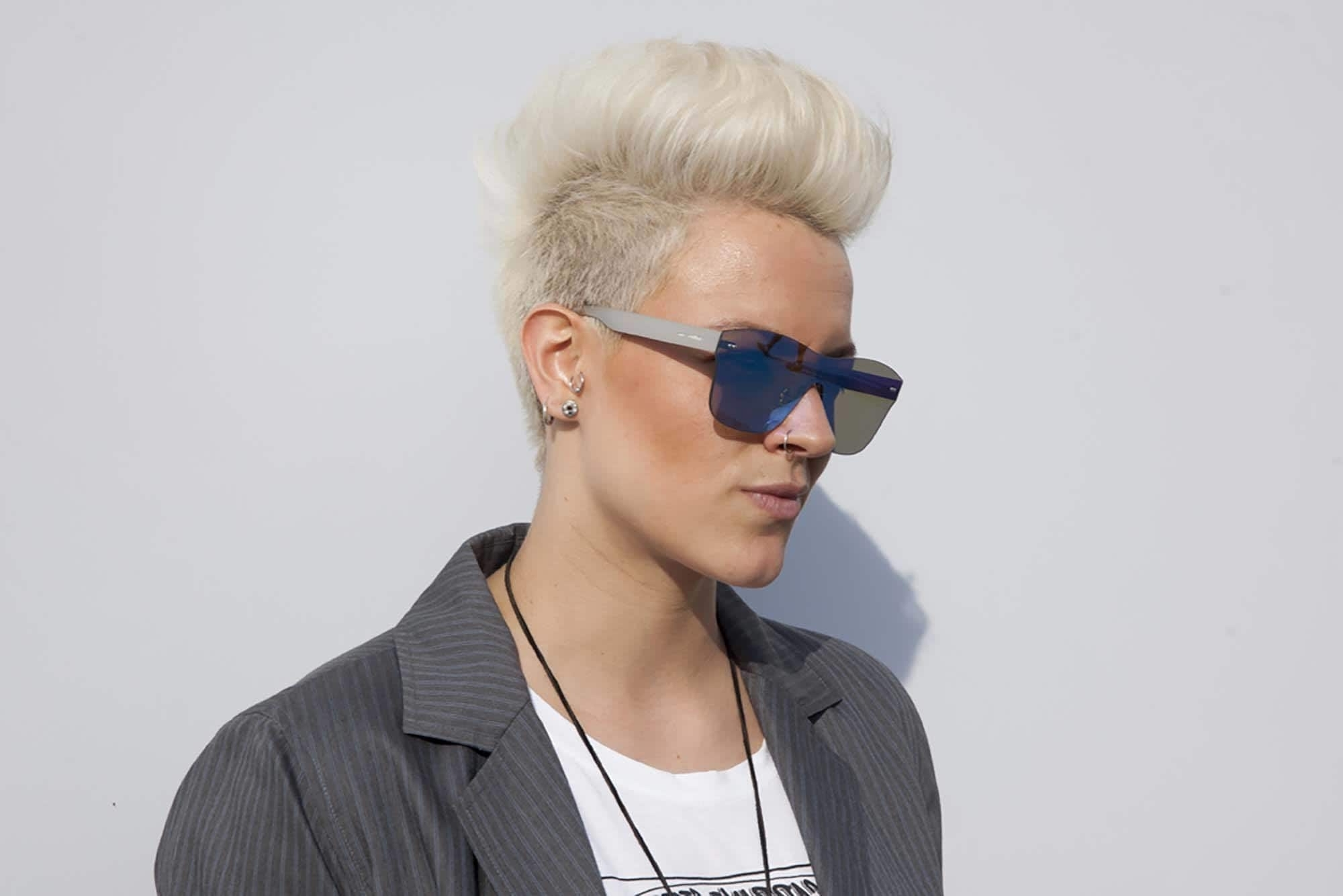 Gallery Of Spiked Blonde Mohawk Haircuts View 7 Of 15 Photos