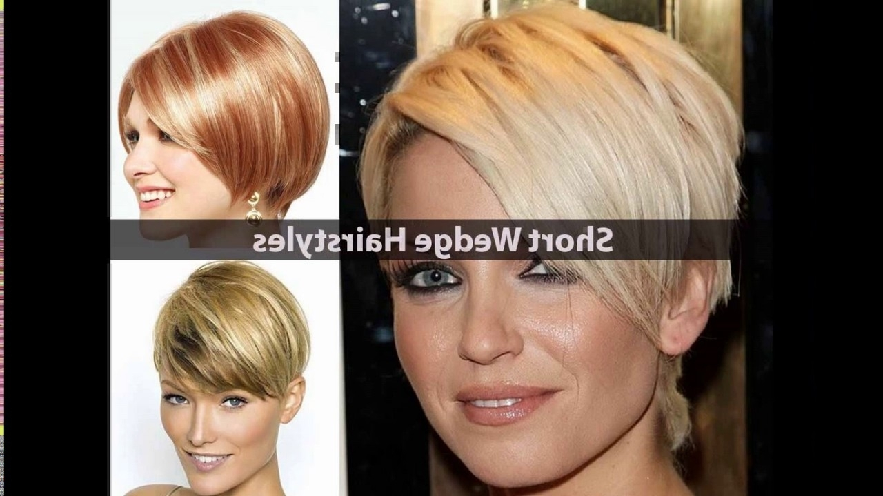 Short Stacked Wedge Haircut – Youtube With Regard To 2018 Pixie Wedge Haircuts (View 3 of 15)