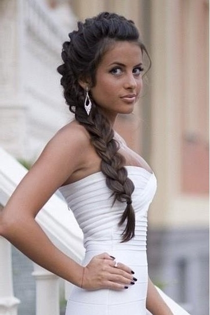 Side Braided Hairstyles For Wedding, Prom – Popular Haircuts Regarding Best And Newest Prom Braided Hairstyles (View 9 of 15)