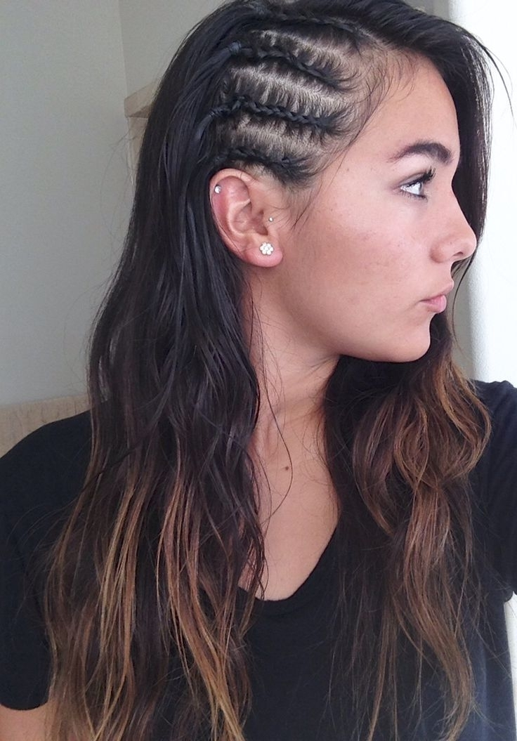 Side Cornrows + Baby Hairs = <3 Hairstyle Ideas | Beauty Obsessed Throughout Recent Cornrows One Side Hairstyles (View 9 of 15)