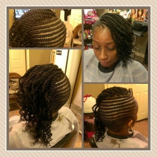 Side Cornrows With Single Marley Twist,. (View 14 of 15)