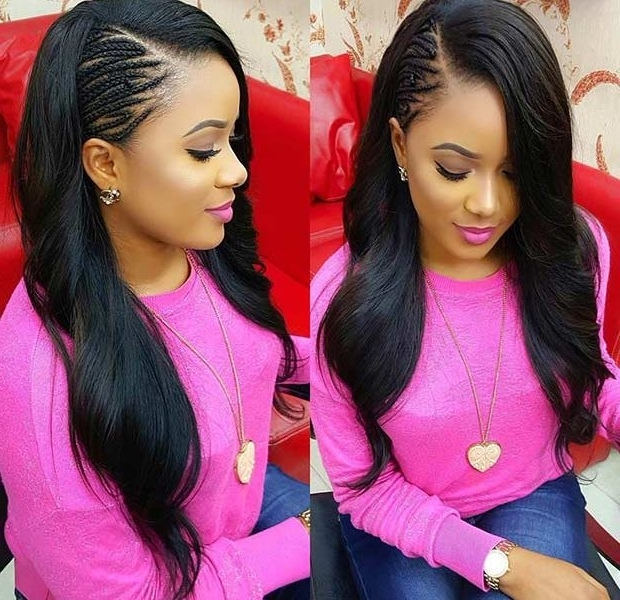 Side Cornrows With Weave Hairstyles : Best Hairstyles In 2018 – Best In Current Cornrows Side Hairstyles (View 14 of 15)