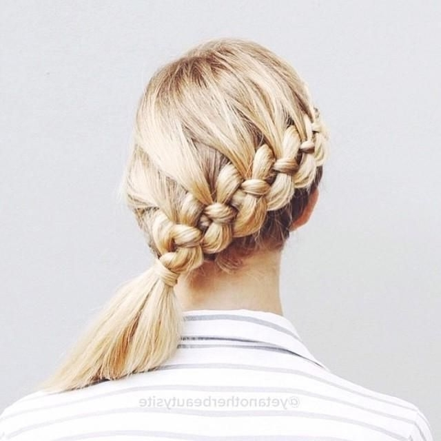 Side French Braid | Hair | Pinterest | Side French Braids, French Within Recent Low Side French Braid Hairstyles (View 10 of 15)