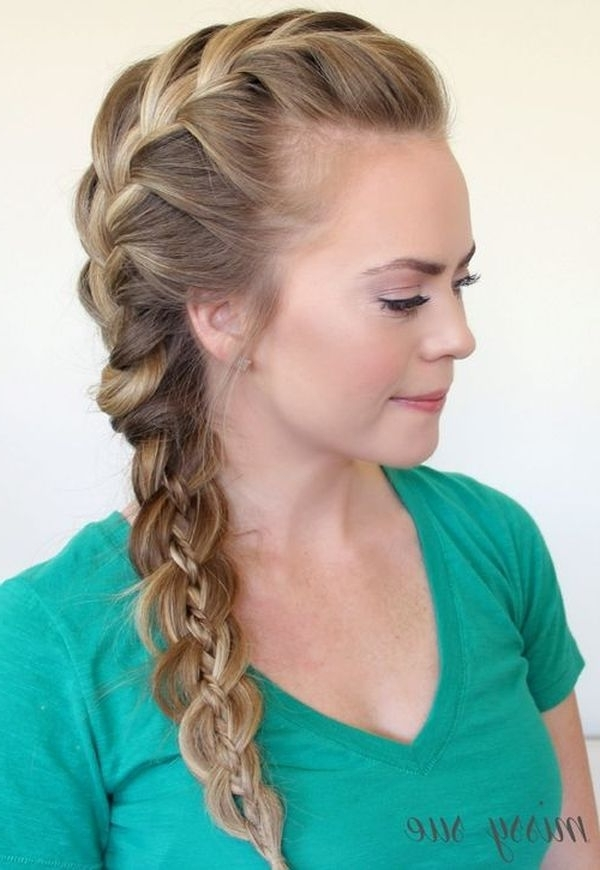 Featured Photo of Loose Side French Braid Hairstyles