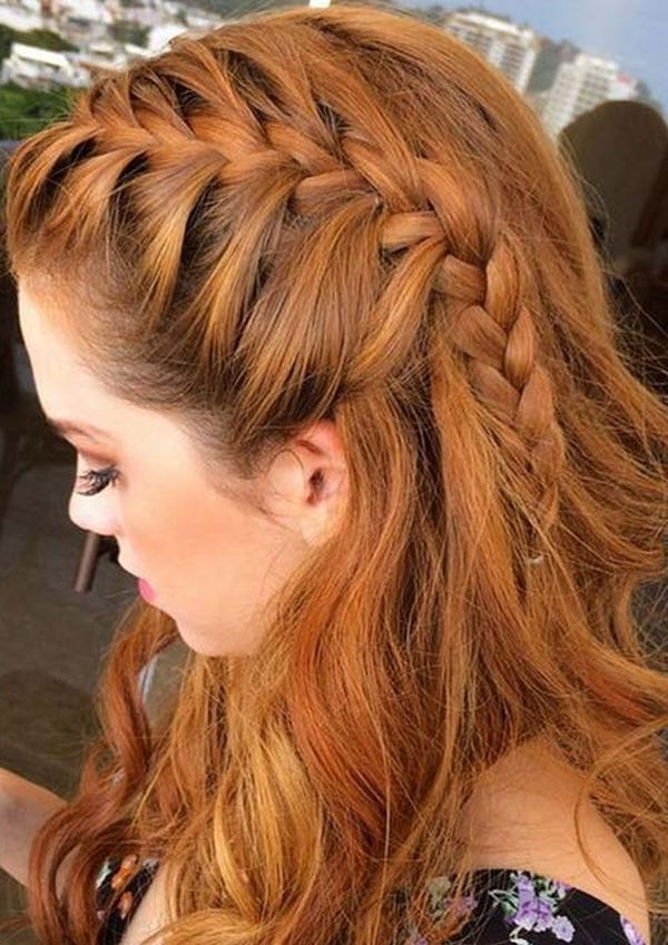 Side French Braided Bun Hairstyles For Woman Within Best And Newest Loose Side French Braid Hairstyles (View 8 of 15)