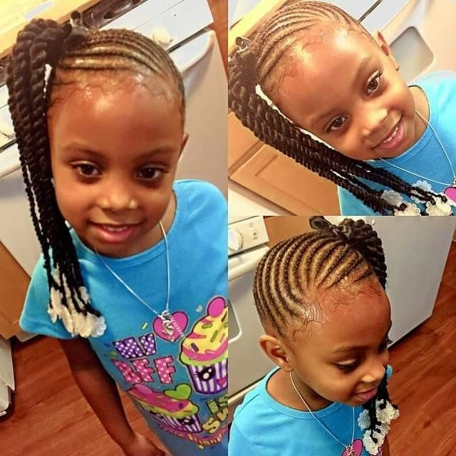 Side Ponytail Braids Into Twists | Hair – For Kids | Pinterest Inside Most Up To Date Side Ponytail Braids With A Twist (View 14 of 15)