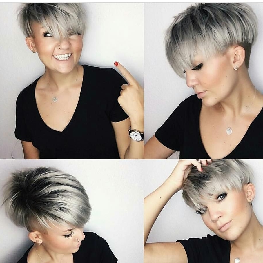 Silver Bowl Undercut Layered Pixie | Pixies & Short Hair Cuts Regarding Most Current Tousled Pixie With Undercut (View 11 of 15)