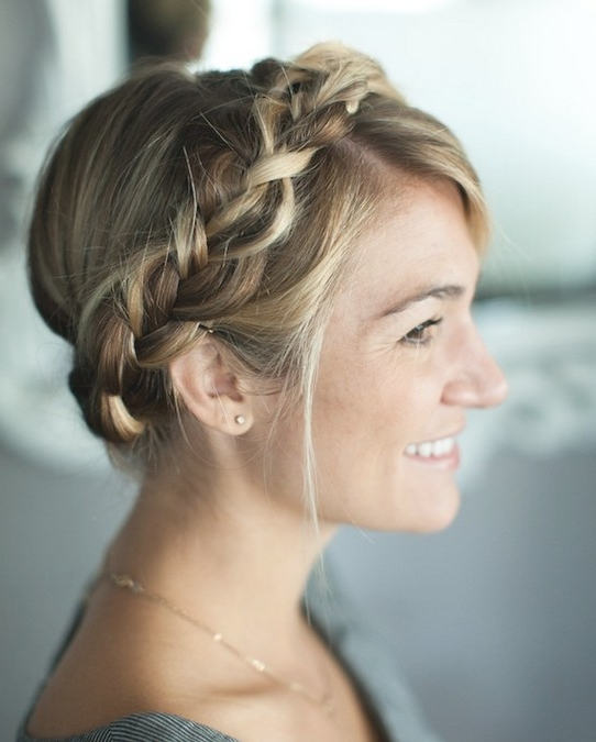 Simple Braided Crown Hairstyle Tutorial Cute And Easy Simple Of With Regard To Most Recently Simple Braided Hairstyles (View 14 of 15)