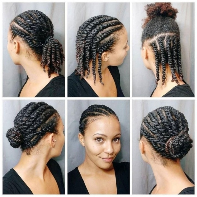 Simple Braided Hairstyles For Natural Hair Elegant Best 25 Natural Throughout Recent Braided Hairstyles On Natural Hair (View 12 of 15)