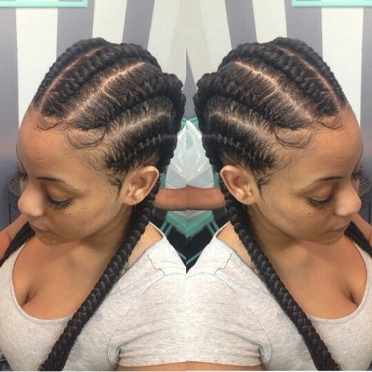 Simple Hairstyle For Straight Back Braids Hairstyles Best Ideas For 2018 Braided Hairstyles To The Back (View 9 of 15)