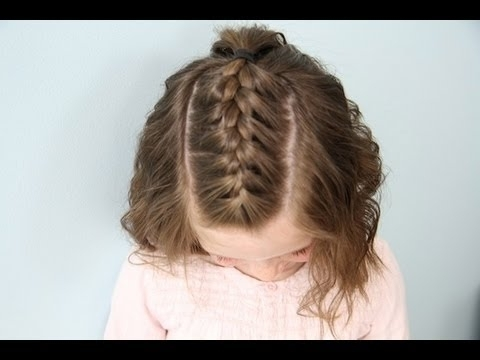 Single French {Braid} Back | Short Hair | Cute Girls Hairstyles With 2018 Messy French Braid With Middle Part (View 14 of 15)
