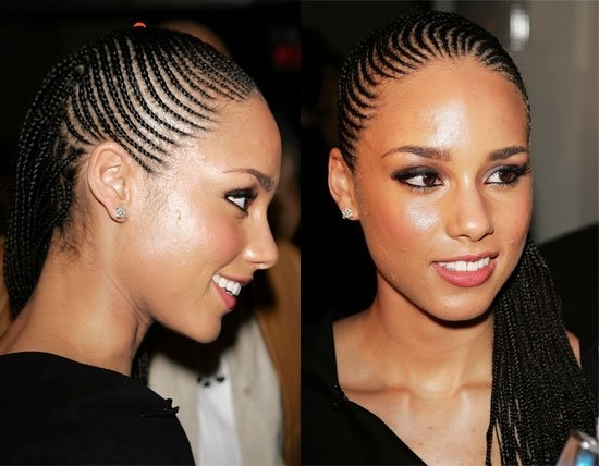 Small Cornrows   10 Pretty Braided Hairstyles To Protect Hair Inside Most Recently Small Cornrows Hairstyles (View 6 of 15)