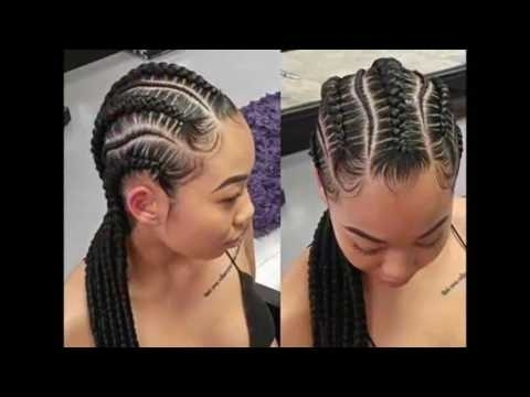 Smart Braids Hairstyles For African Cute Ladies – Youtube Throughout Recent Plaits Hairstyles Youtube (View 4 of 15)