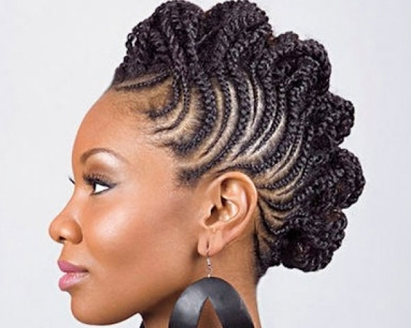 Snake Braids Mohawk Look For Black Women   Medium Hair Styles Ideas Inside Most Recently Snake Braids Hairstyles (View 10 of 15)