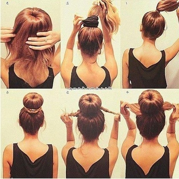 Sock Bun Hacks, Tips, Tricks; How To Wear Hair Up In Donut With Most Recently Braid Into Sock Bun (View 5 of 15)