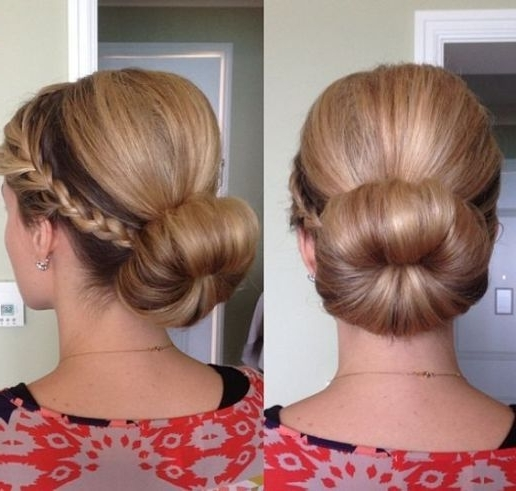 Sock Bun With Braid Pictures, Photos, And Images For Facebook For Best And Newest Two French Braid Hairstyles With A Sock Bun (View 14 of 15)