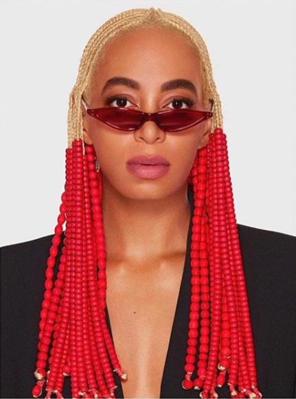 Solange Knowles Rocking New Blonde Braids | Fow24 | Pinterest For Most Recently Minimalistic Fulani Braids With Geometric Crown (View 10 of 15)