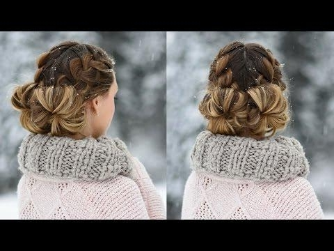 Space Buns – Double Bun – Upside Down Dutch Braid Into Messy Buns Throughout Most Up To Date Upside Down Braids With Double Buns (View 13 of 15)
