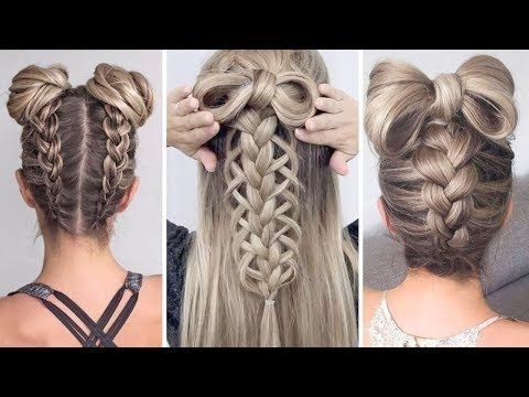Space Buns – Double Bun – Upside Down Dutch Braid Into Messy Buns With Regard To Most Up To Date Upside Down Braids With Double Buns (View 3 of 15)