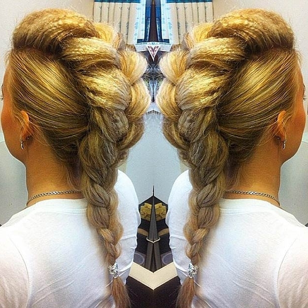 Statement Mohawk Hairstyles 2015 | Hairstyles 2017, Hair Colors And Intended For Most Up To Date Mohawk French Braid Hairstyles (View 14 of 15)