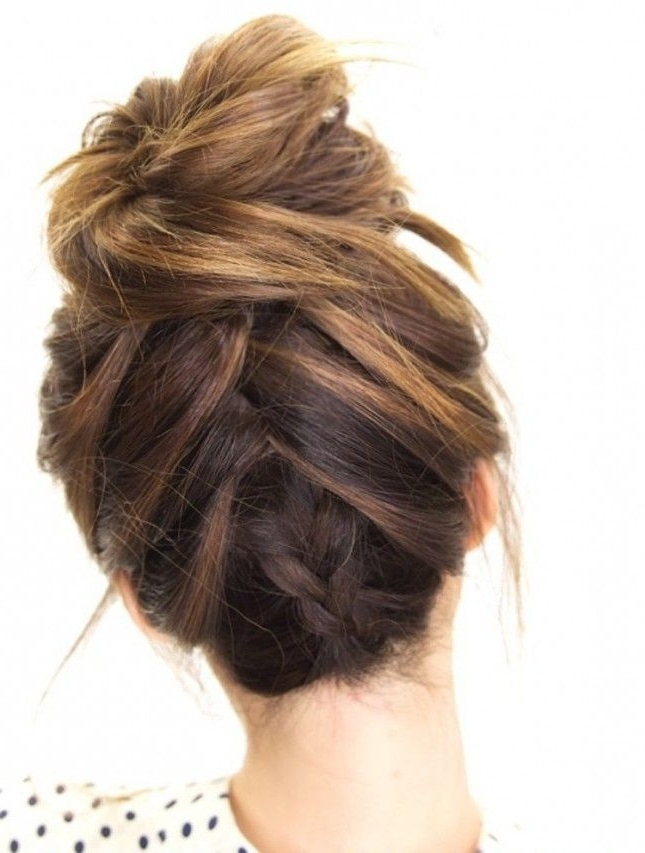 Step By Step Picture Tutorial Cute Hairstyles Braids | Boho Fashion In Most Recently Messy Bun Braided Hairstyles (View 8 of 15)