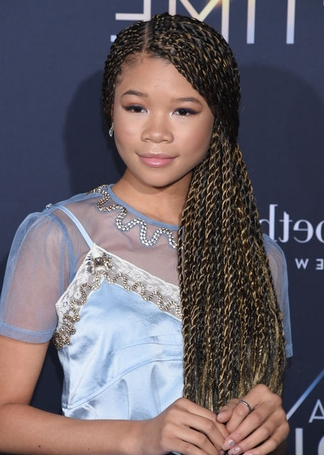 Storm Reid's 15 Top Braided Hairstyles   Revelist Intended For 2018 Braided Hairstyles (View 6 of 15)