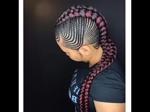 Straight Back Braids : Best Hairstyles For Beautiful Ladies – Youtube For Most Popular Braided Hairstyles To The Back (View 5 of 15)