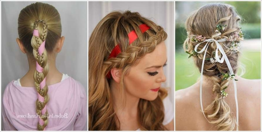 Stunning And Unique Ribbon Braided Hairstyles With Most Recently Braided Ribbon Hairstyles (View 2 of 15)