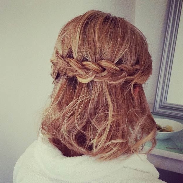 Stunning Half Braided Hairstyle For Short Hair | Styles Weekly Within Recent Braided Hairstyles For Short Hair (View 9 of 15)