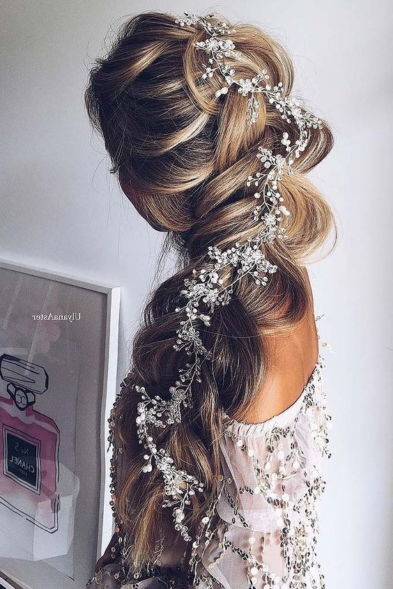 Stunning Wedding Hairstyles With Braids For Amazing Look In Your Big With Regard To Most Up To Date Updo With Forward Braided Bun (View 15 of 15)