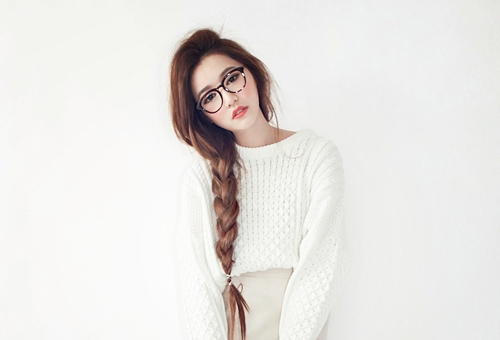 Stylenanda Tumblr | Korean Model For The Popular South Korean Online With Most Current Korean Braided Hairstyles (View 15 of 15)