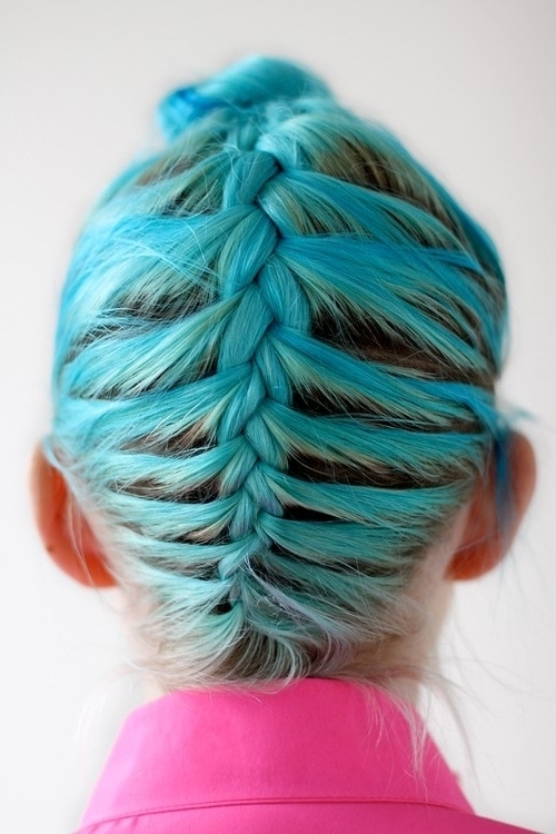 Stylenoted | Upside Down Fishtail Bun With Newest Upside Down Fishtail Braid Hairstyles (View 7 of 15)