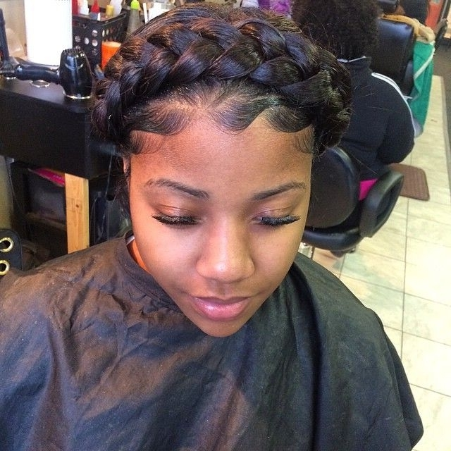 Stylist Feature| Love This Goddess Braid Done#detroithairstylist Inside Most Recent Thick Halo Braid Hairstyles (View 2 of 15)