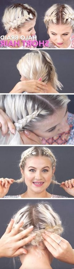 Summer Braid 4 | Beauty | Pinterest | Short Hair, Shorts And Dutch Regarding Latest Thin Double Braids With Bold Bow (View 13 of 15)
