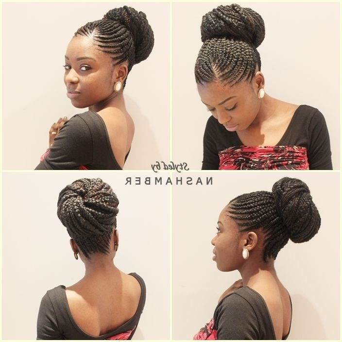 Super Cute To Learn How To Grow Your Hair Longer Click Here – Http Throughout Most Popular Cornrows Hairstyles In A Bun (View 10 of 15)