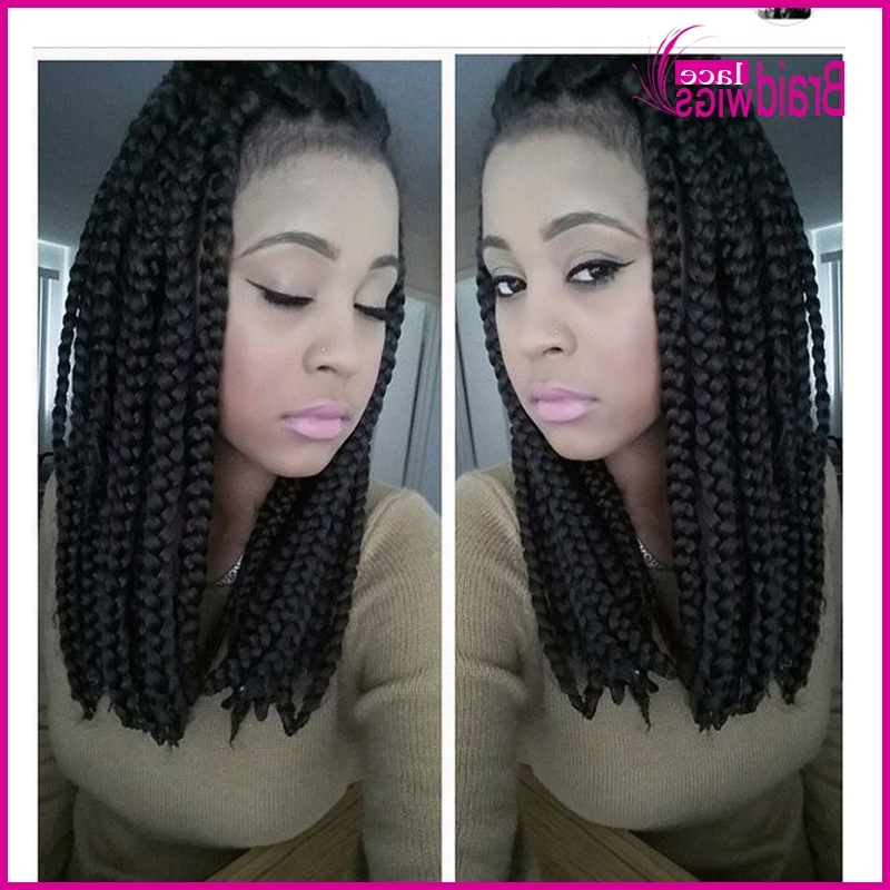 Synthetic Braided Lace Front Wigs Black Bob Hair Thick Full Hand For Most Recent Wigs Braided Hairstyles (View 15 of 15)