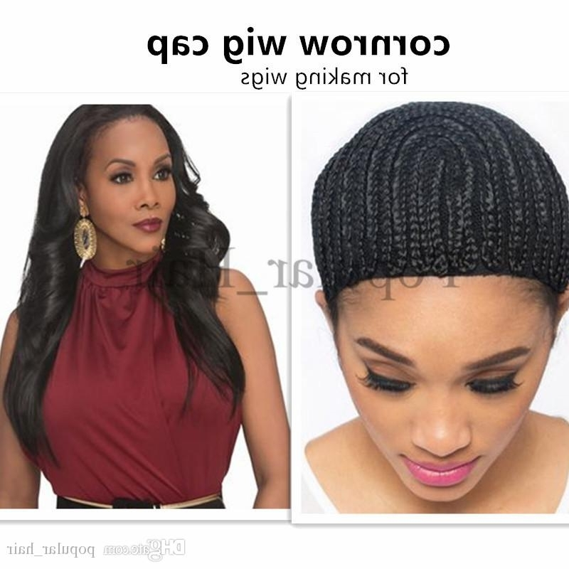 Synthetic Braiding Wig Caps For Making Wigs Cornrows Wig Cap With Pertaining To Most Recently Wigs Braided Hairstyles (View 9 of 15)