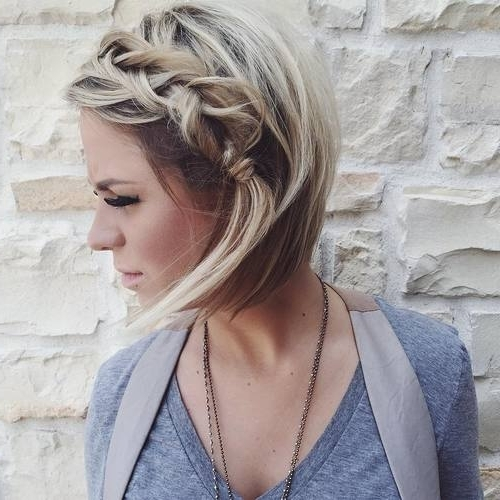 The 10 Best Braided Hairstyles For Shorter Hair – Hair World Magazine With Recent Braided Hairstyles On Short Hair (View 14 of 15)