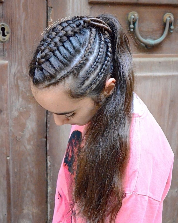 The 54 Best Braided Hairstyles Images On Pinterest Intended For Most Recent Cornrows Enclosed By Headband Braid Hairstyles (View 5 of 15)