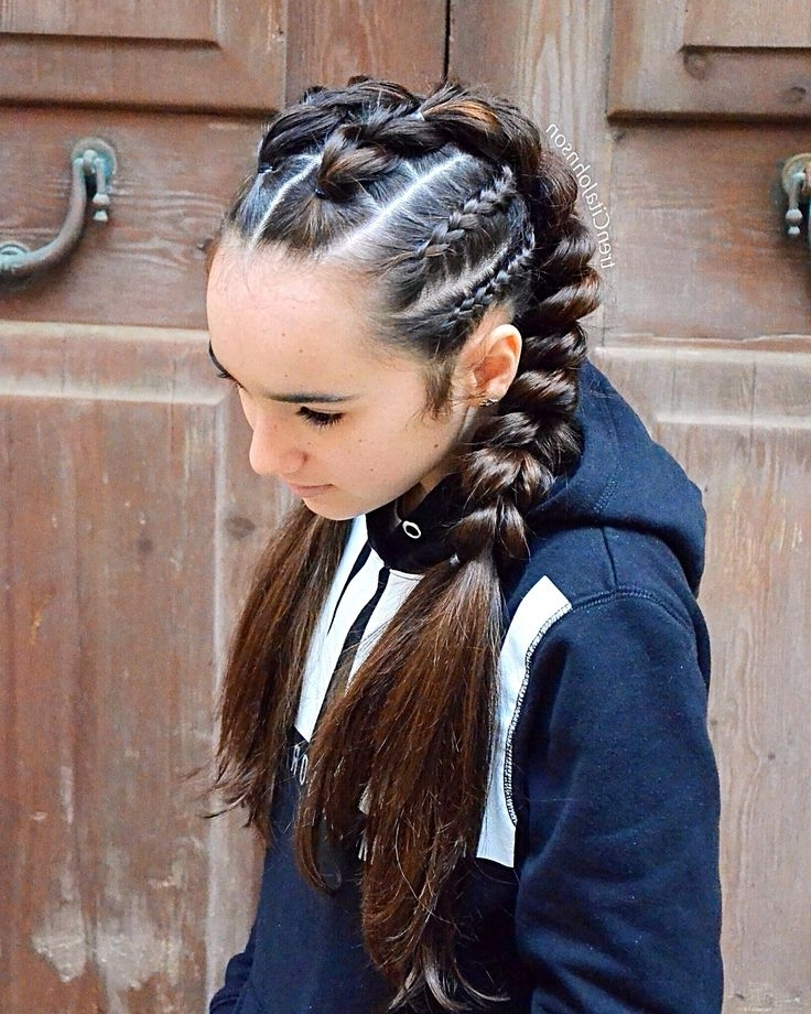 The 54 Best Braided Hairstyles Images On Pinterest Intended For Most Recently Cornrows Enclosed By Headband Braid Hairstyles (View 3 of 15)