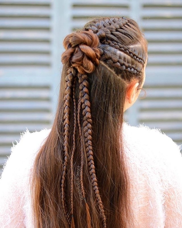 The 54 Best Braided Hairstyles Images On Pinterest With Regard To Best And Newest Cornrows Enclosed By Headband Braid Hairstyles (View 2 of 15)
