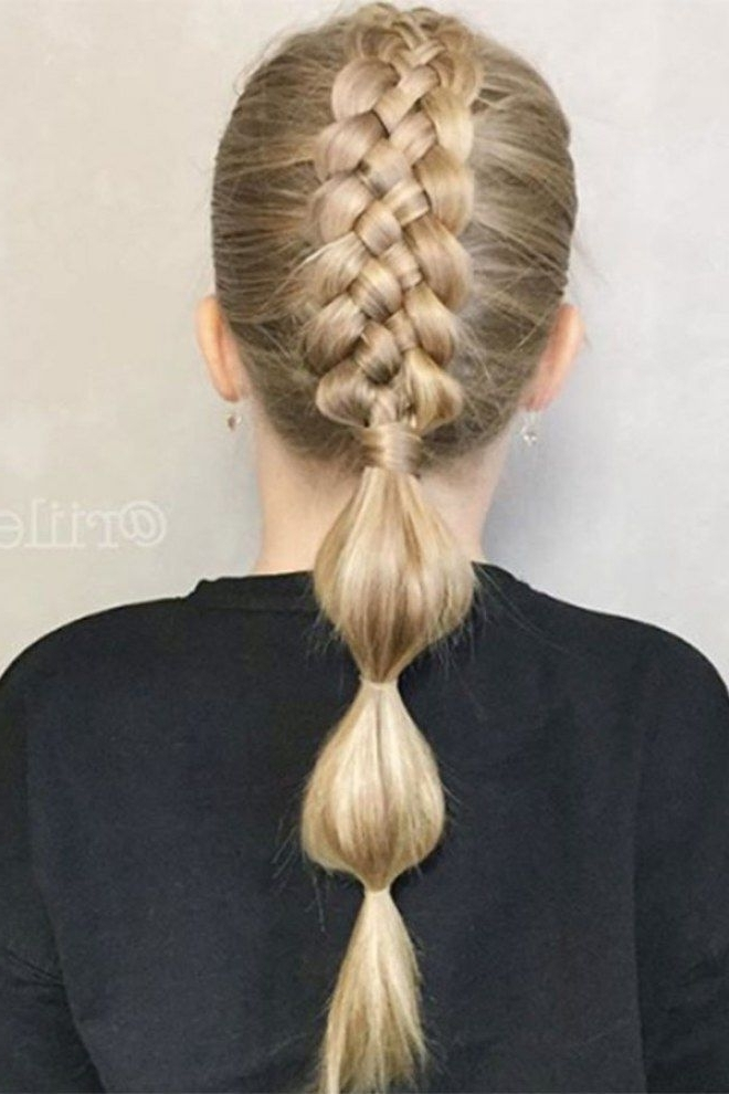 The Best Bubble Braid Styles As Toldinstagram | Bubble Ponytail With Regard To Most Recently French Braid Hairstyles With Bubbles (View 7 of 15)