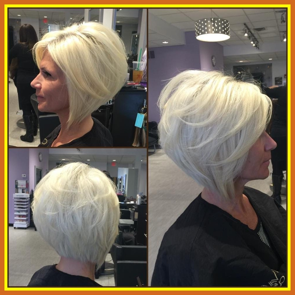 The Best Layered Angled Bobgia Platinum Blonde Adelleandrade Pic Throughout Current Blonde Pixie Haircuts With Short Angled Layers (View 11 of 15)