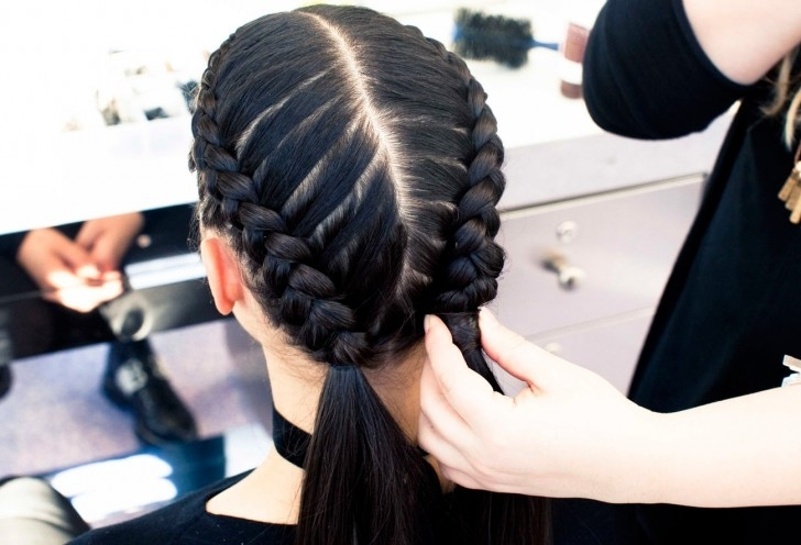 The Boxer Braid (Aka Double French Braid): A How To – Coveteur Intended For Most Recent Loose Hair With Double French Braids (View 13 of 15)