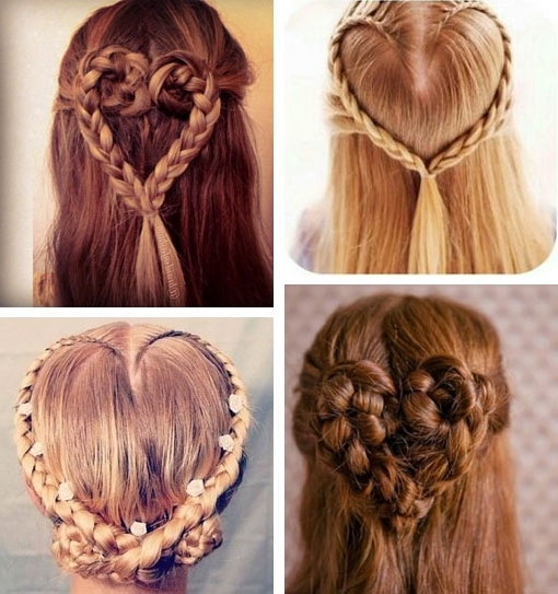 The Braid Heart Hair Valentinesday Hairstyle Http Stylenoted Elegant Within Newest Heart Braided Hairstyles (View 15 of 15)