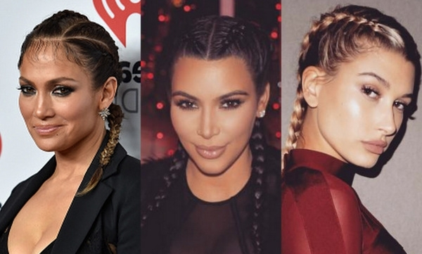 The Celebrity Braid Trend: Kim Kardashian, Katy Perry, Rita Ora And Pertaining To 2018 Kim Kardashian Braided Hairstyles (View 3 of 15)